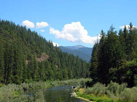 Klamath River by Seiad Valley Northern California